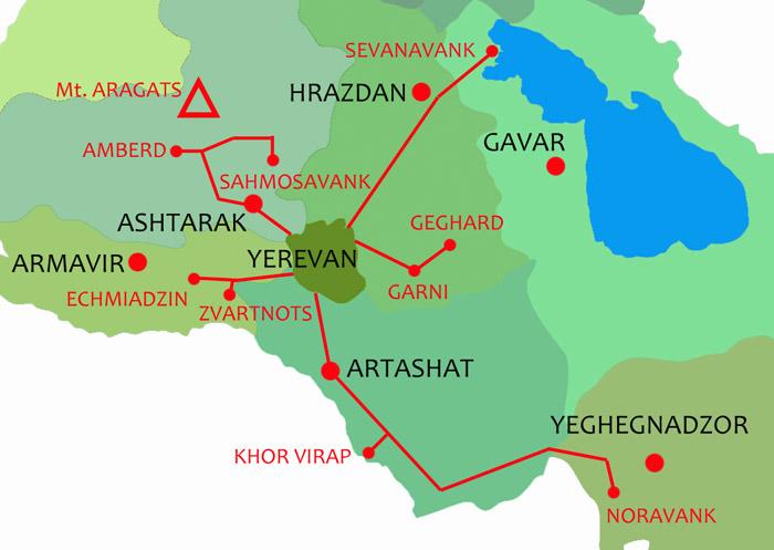 Карта Города Эчмиадзин